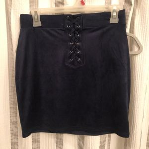Forever 21 suede lace up mini skirt